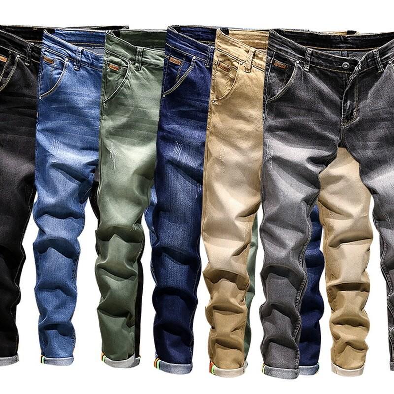 Airgracias 2020 Autumn Classic Men Jeans Casual Solid Slim Racer Biker Pants Fashion Hip Hop Streetwear Vintage Jeans Pantalones Hombre Birthday Gift Shopee Philippines