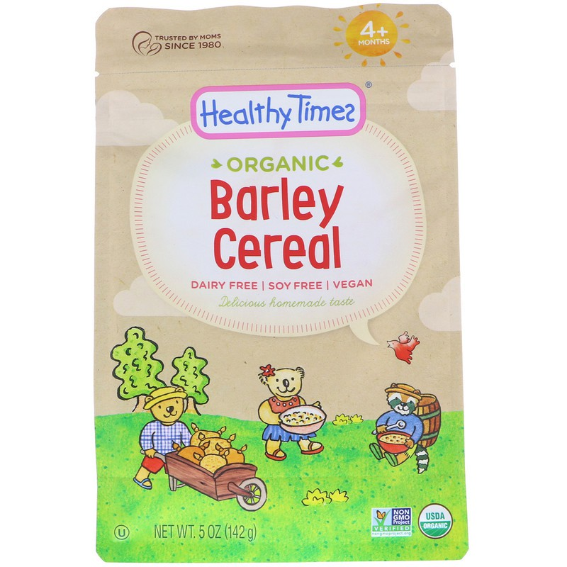 Healthy Times, Organic, Barley Cereal, 4+ Months, 5 Oz