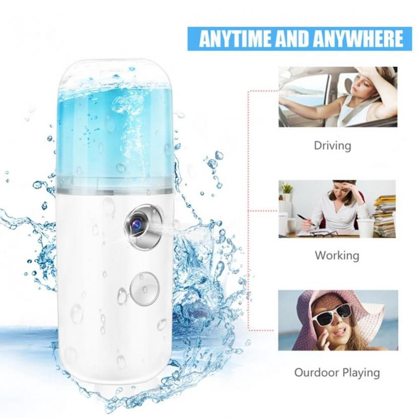 30ml USB Handy Nano Mist Spray Atomization Mister Face Facial ...