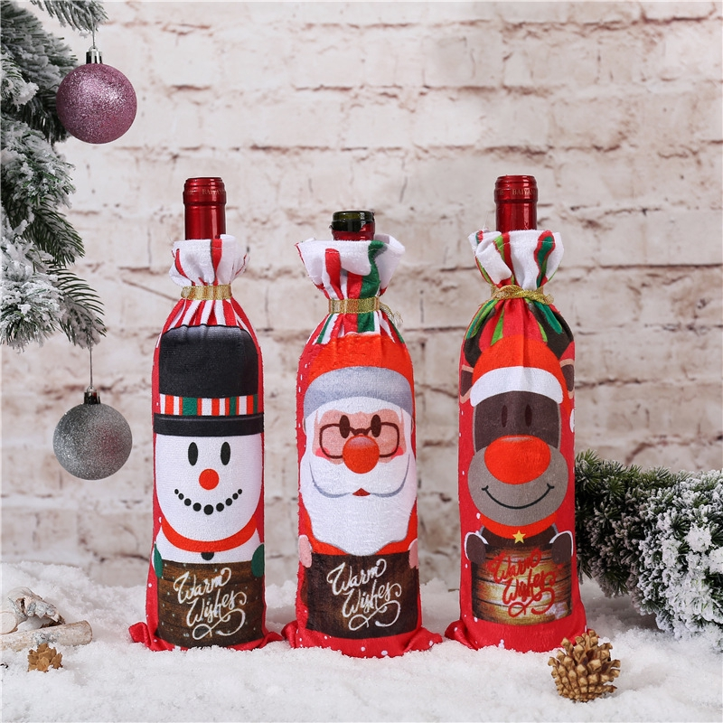 Christmas Table Decoration Ideas Christmas Gift Bags Wine Bottle Cooler Bags Festival Shopee Philippines