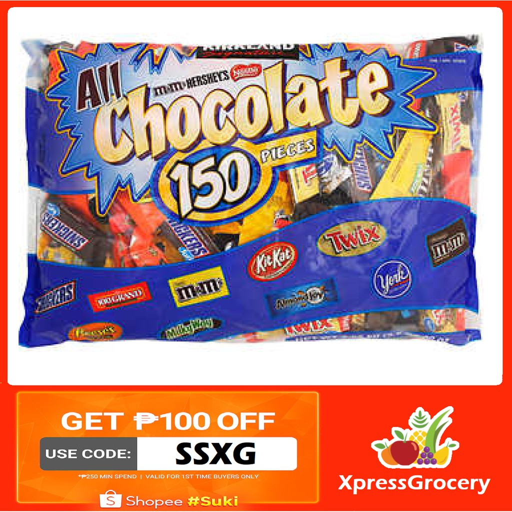 KIRKLAND All Chocolate 150 pieces Funsize Variety