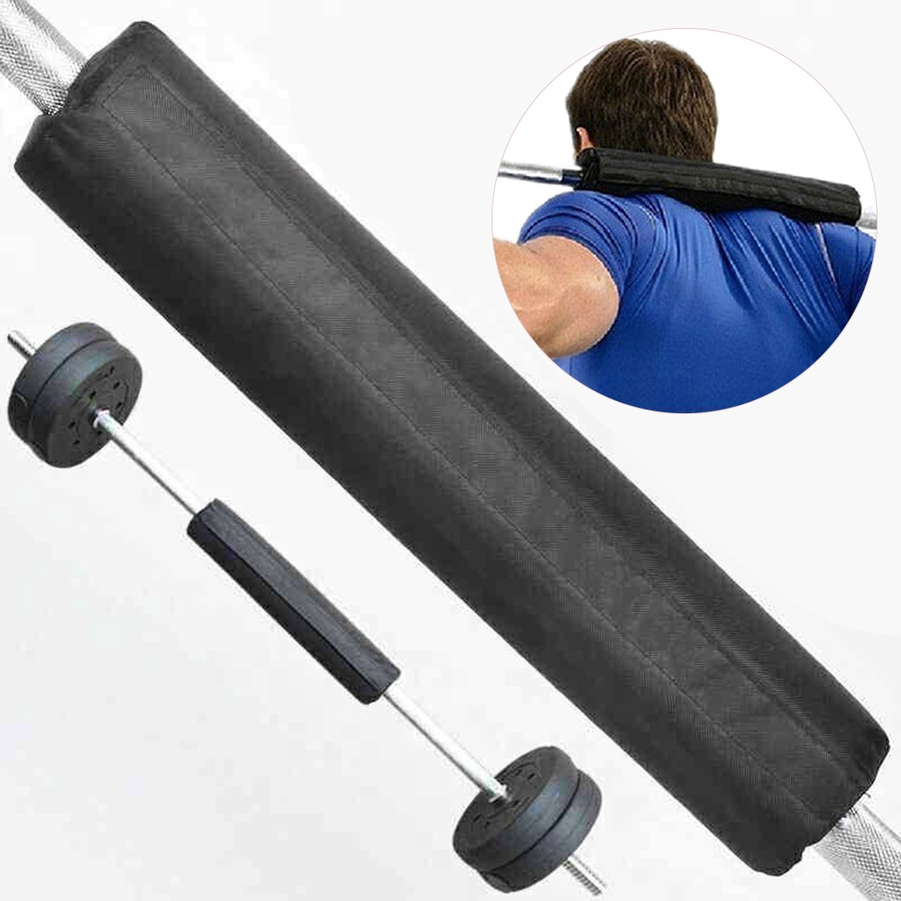 Squat Foam Sponge Cushion Olympic Barbell Padding Weight Lifting Bar Pad Black