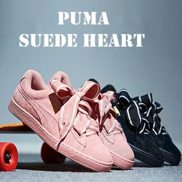 PUMA SUEDE HEART BOW SNEAKERS for women casual shoes