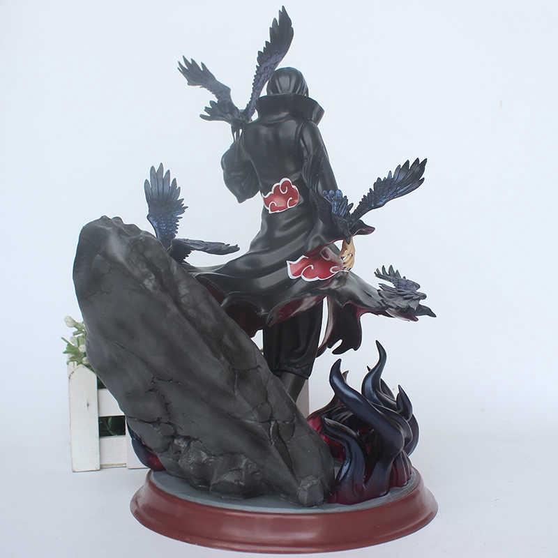 Naruto Shippuden Itachi Action Figure GK Uchiha Itachi With Crow Model Toy 28cm