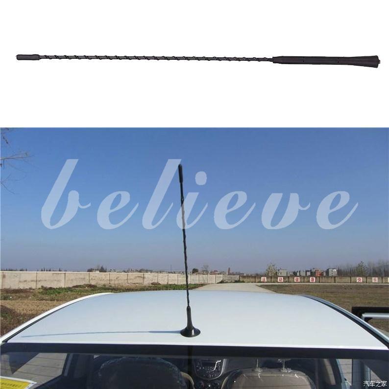 """Auto Car 4/"""" Length Short AM//FM Signal Roof Antenna Aerial Screws Universal Black"""