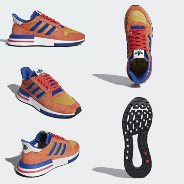 the latest 6bd60 e9aa0 Adidas Dragon Ball Z ZX 500 RM 'Son Goku' Free Adidas Socks