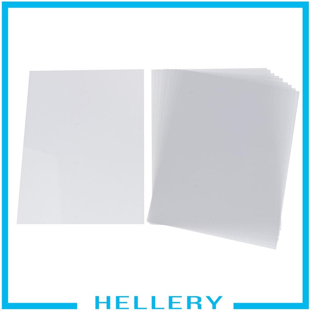 10 Half Transparent Shrink Film Sheets Shrinkable Paper Craft Fine Polish