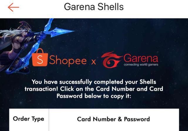 Garena Shells 100 | Shopee Philippines