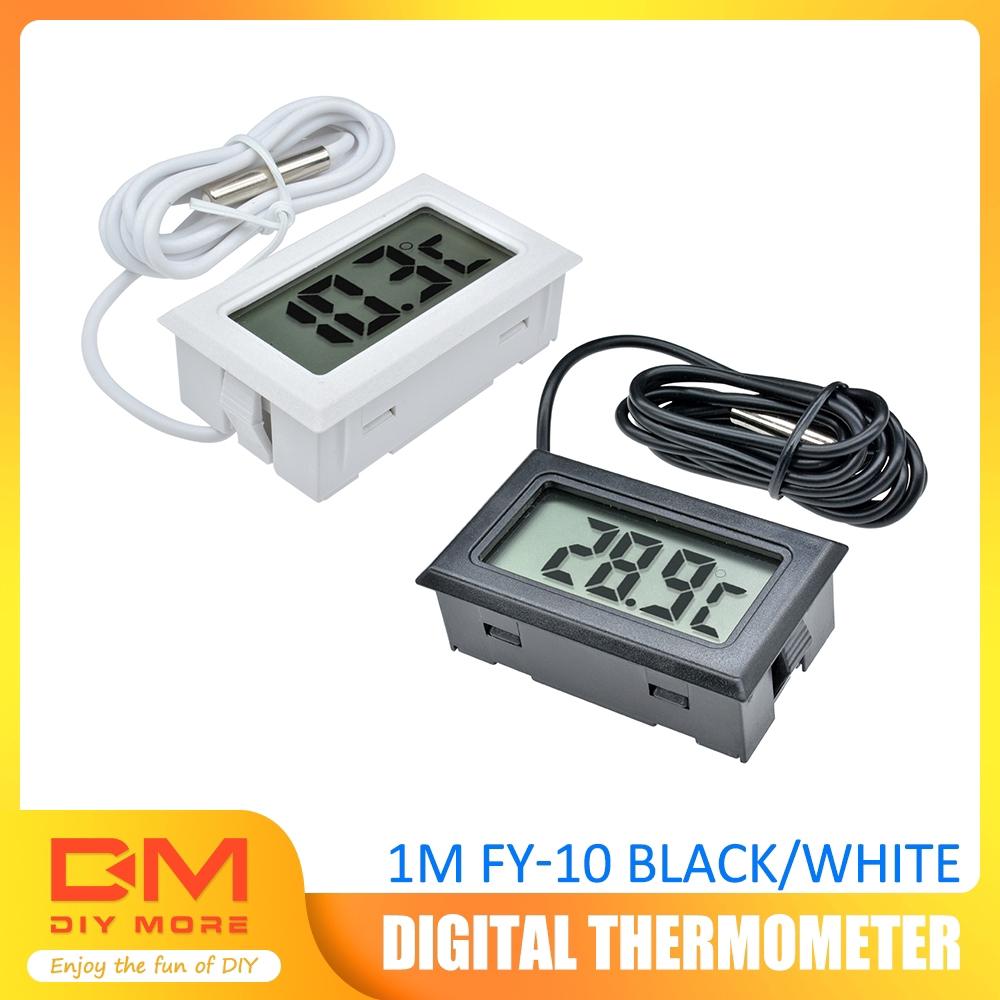 Digital LCD Gauge Insert Probe Temperature Thermometer Thermograph for Aquarium
