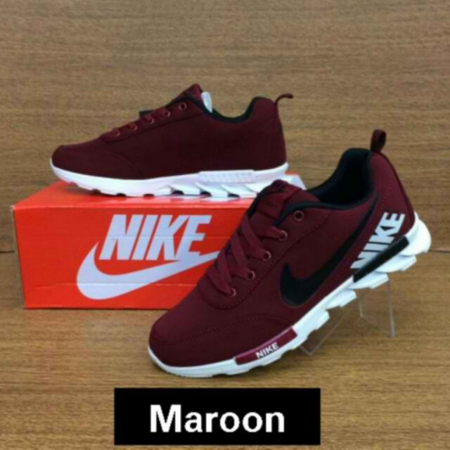 separation shoes 3ecc5 6abe2 Nike rubber shoes Maroon   Shopee Philippines
