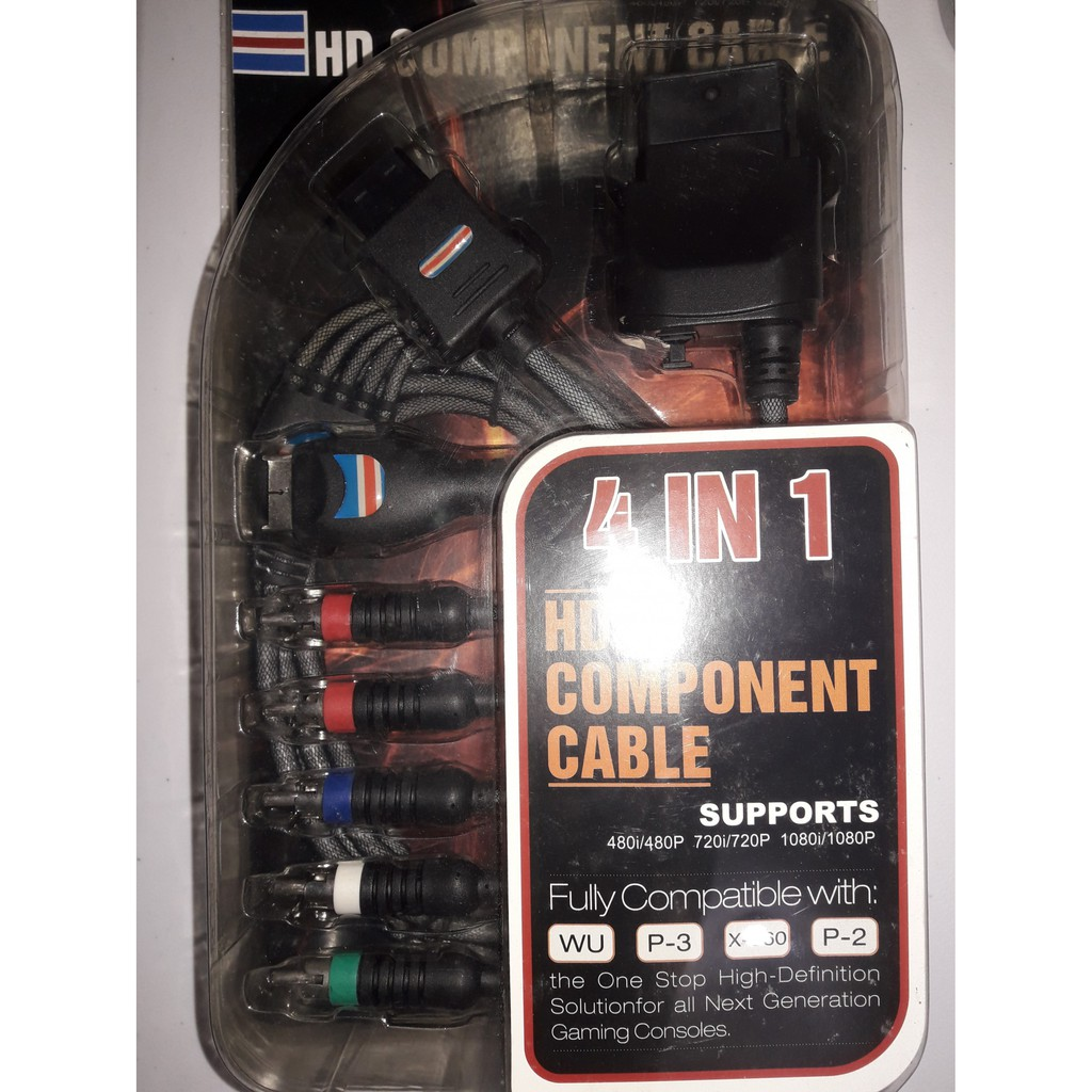 4 in 1 HD Component Cable PS2 PS3 Xbox 360 Wii 1080P 720P