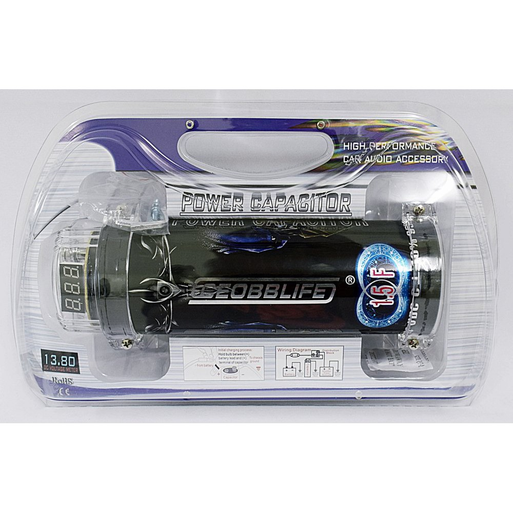 High Performance Car Audio Power Capacitor 1 5 Farad Shopee Philippines