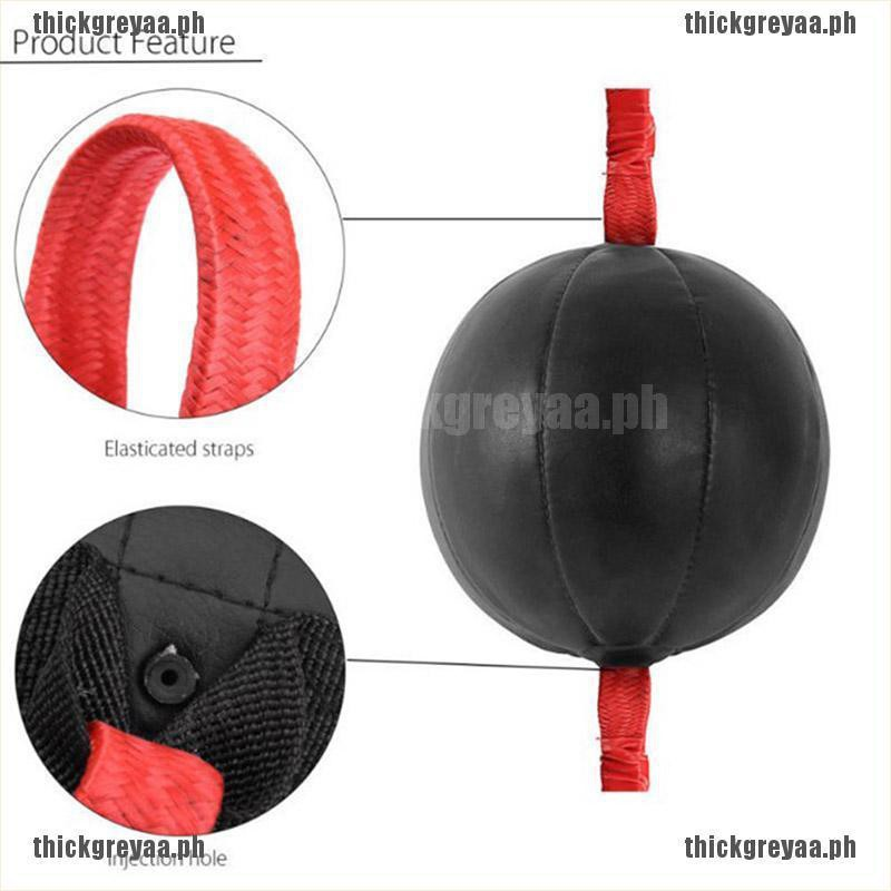 Camidy Double End Muay Thai Boxing Punching Bag Speed Elastic Ball Punch Training Fitness Workout red