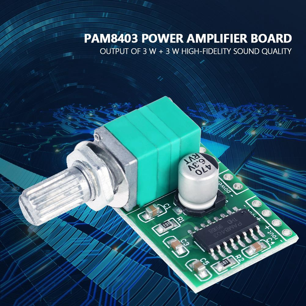 DC 4pcs with PAM8403 Amp Module Potentiometer Amplifier