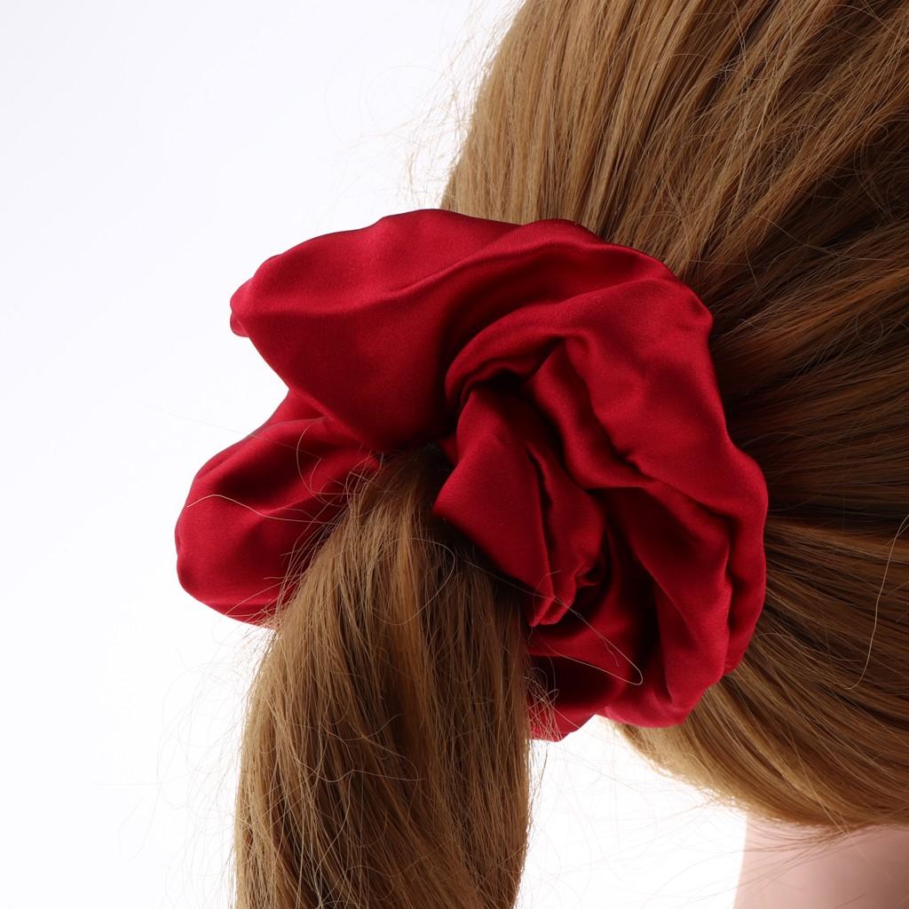 Orange   ELASTIC hair tie green red girl Ball Ponytail Holder  Knocker Scrunch