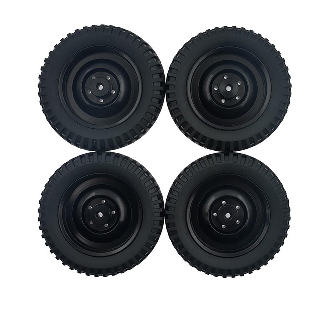 4pcs 1:16 Modificate Aluminum Tires Climbing Car Wheel Hub Easy Install For WPL