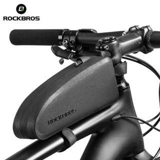 ROCKBROS Black Waterproof Bicycle Top Tube Frame Bag Colorful Reflective 1.5L