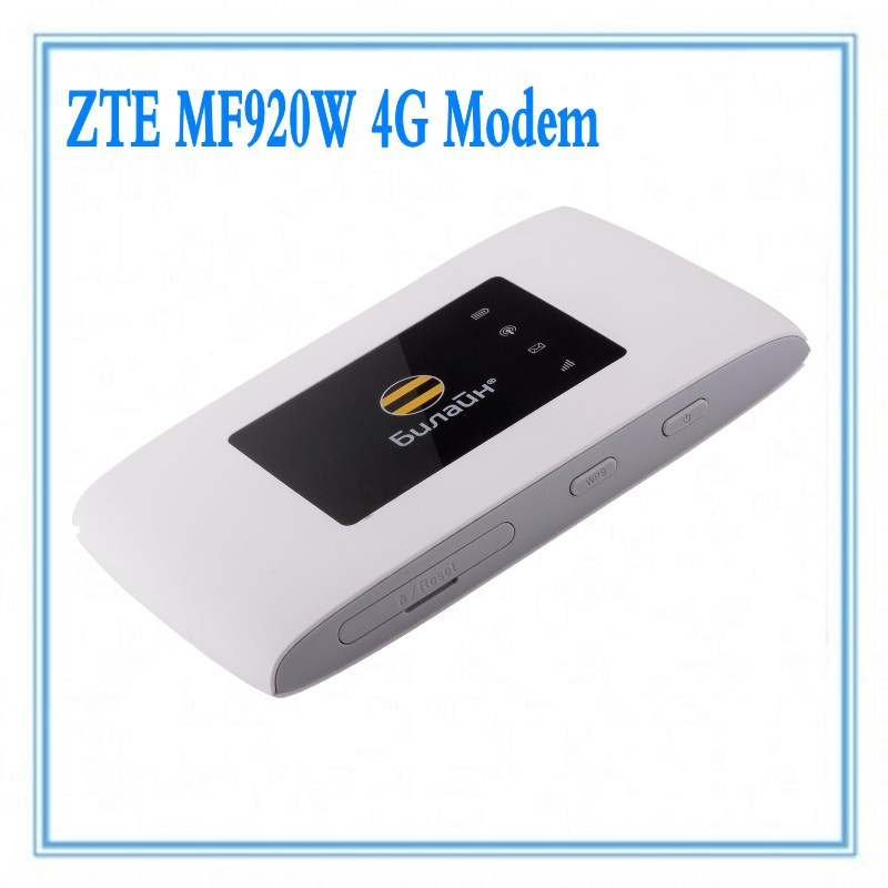 Zte MF920W WiFi Hotspot Router&4G 150Mbps Pocket WiFi Router