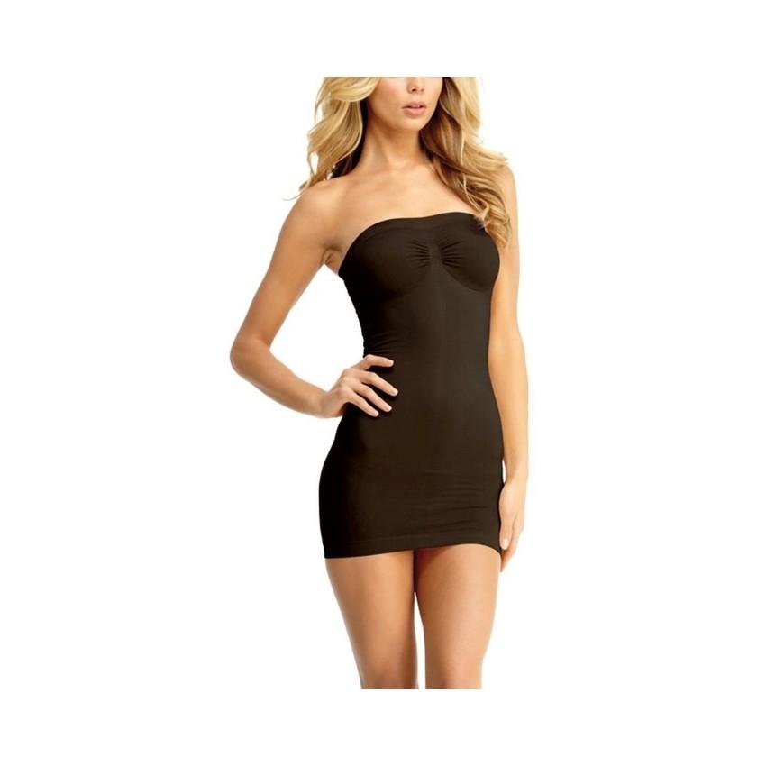 288b59b2e0c0a Women s Full Body Slip Shaper Seamless Slimming Tube Shapewear Dress  (Black)