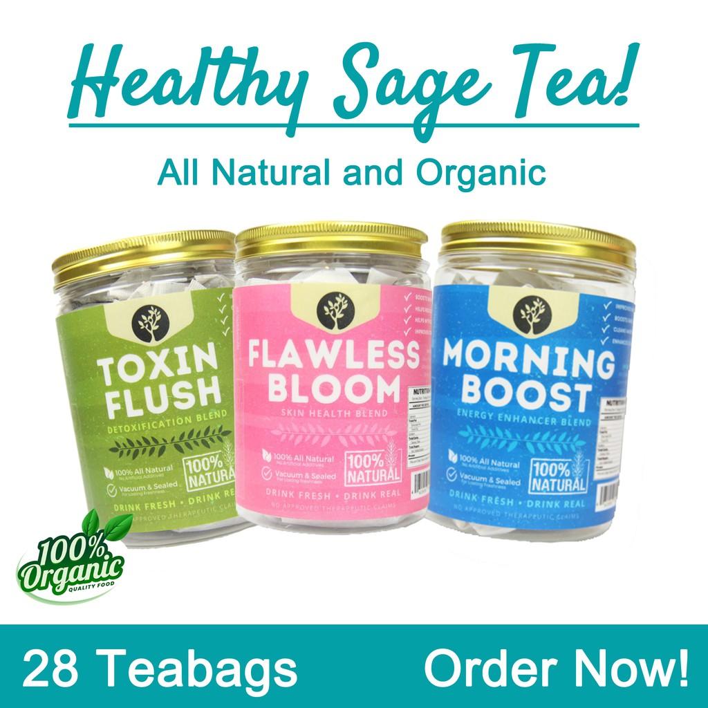 HEALTHY SAGE TEA Flawless Bloom Skin Health Blend Tea