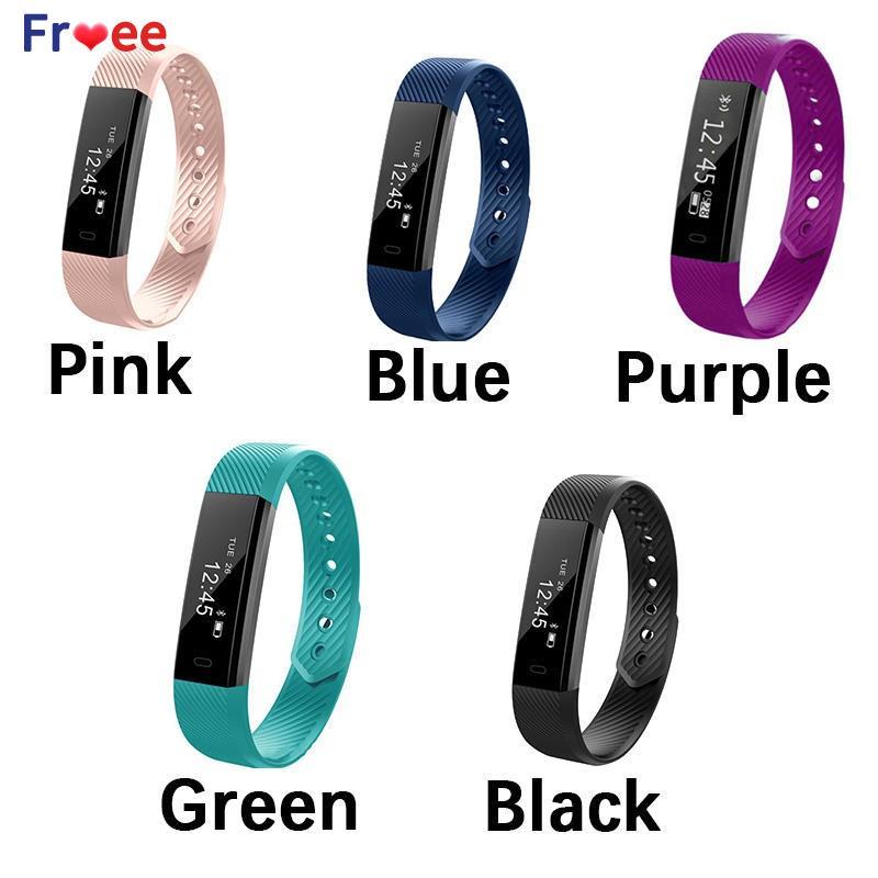 ✨ ID115 Bluetooth Health Wear Gift Wristband Smart Bracelet Sports Step  Counter