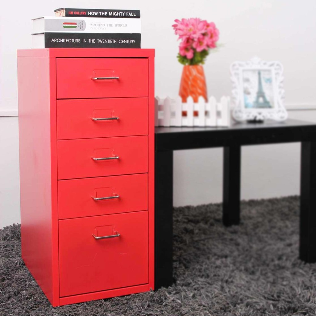 Qoncept 5 Layer Metal Filing Cabinet Minimalist Home Office Drawer File Cabinet File Storage Shopee Philippines