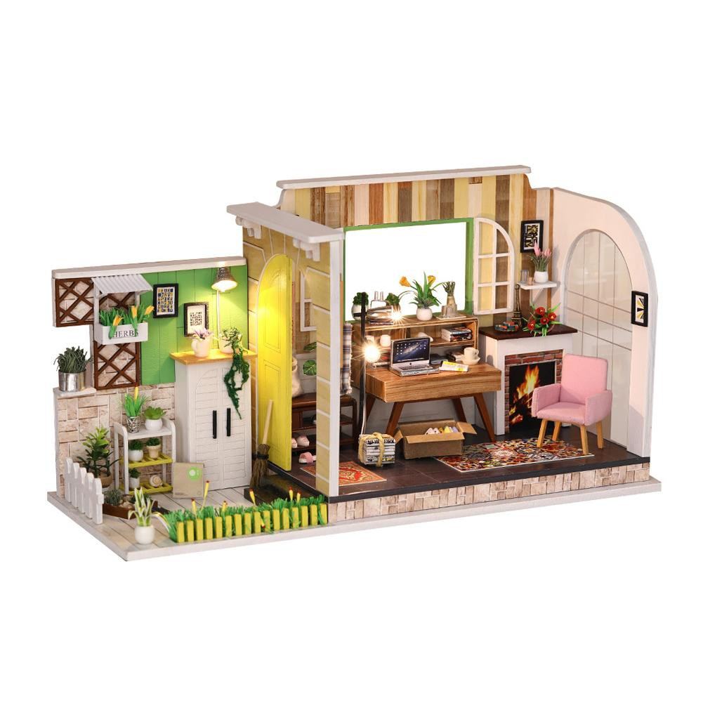 【trustyou】doll house diy miniature dollhouse model modern wooden furniture  toys gifts✪