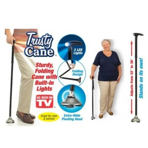 Muddy Trusty Cane Folding Cane With 3built In Led Lights