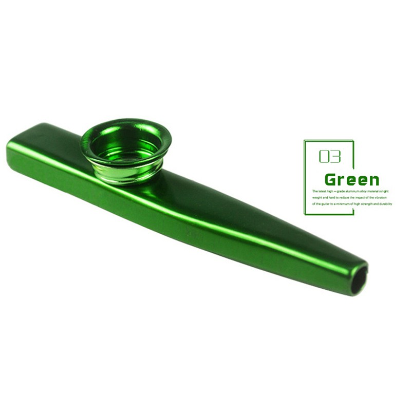 1pc Durable Metal Kazoo Harmonica Mouth Flute Kid Party Gift Musical Instrument