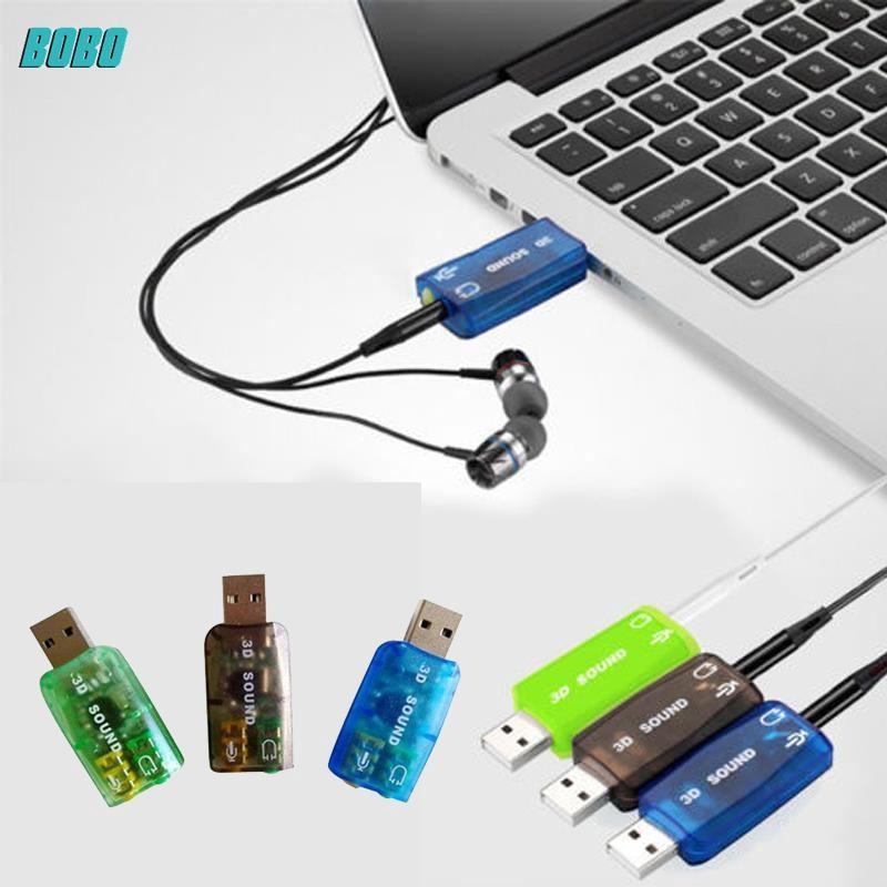 1 x Useful External Plastic 3D 5.1 USB Stereo Sound Card Audio Adaptor Converter
