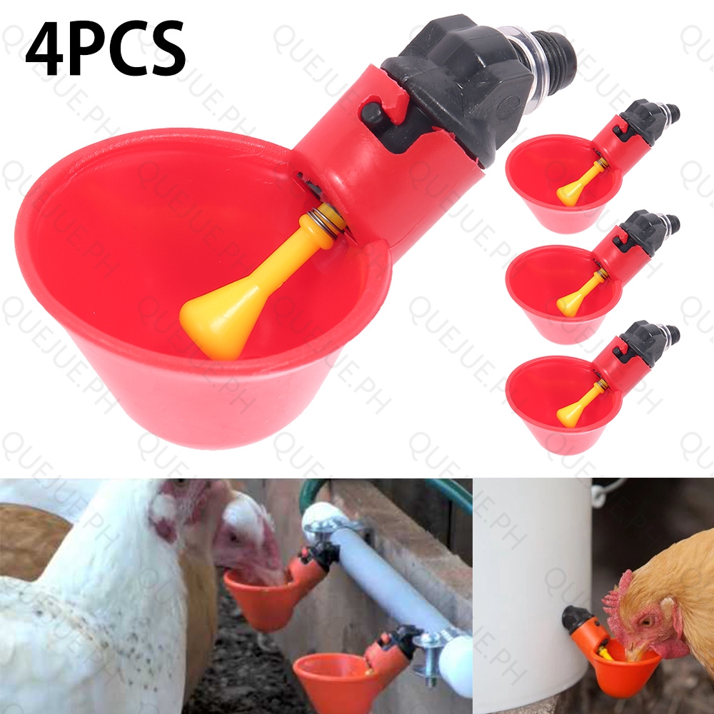 20 Pcs Poultry Drinking Cups Chicken Bird Auto Drink Quail Water Bowl