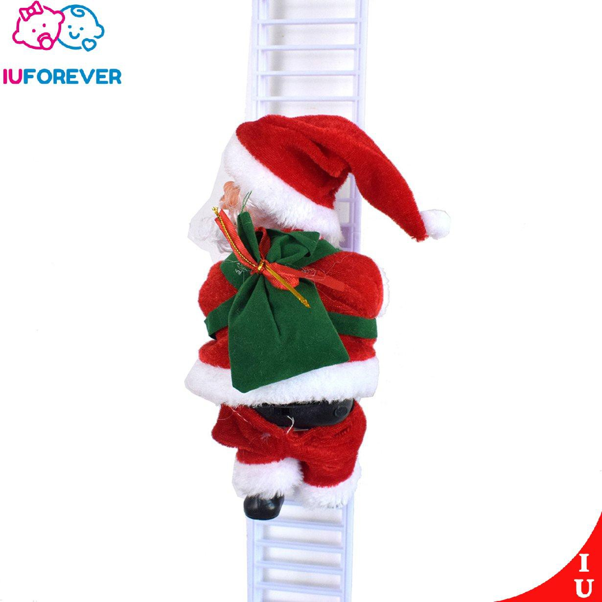 Iu1225 Electric Climbing Ladder Santa Claus Christmas Figurine Ornament Holiday Party Shopee Philippines