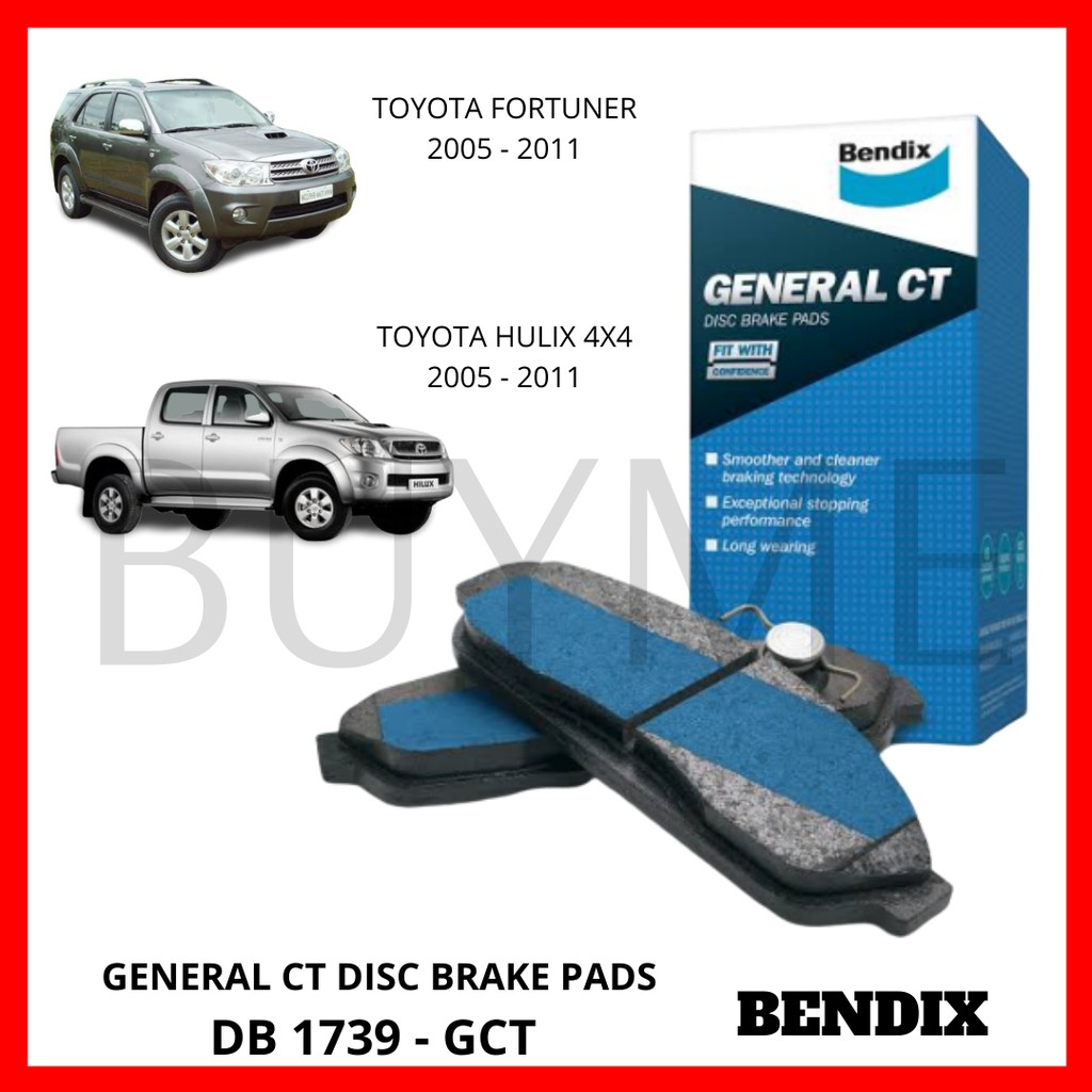 DB1985HD Details about  /1 set x Bendix Heavy Duty Brake Pad FOR TOYOTA HILUX GGN2/_