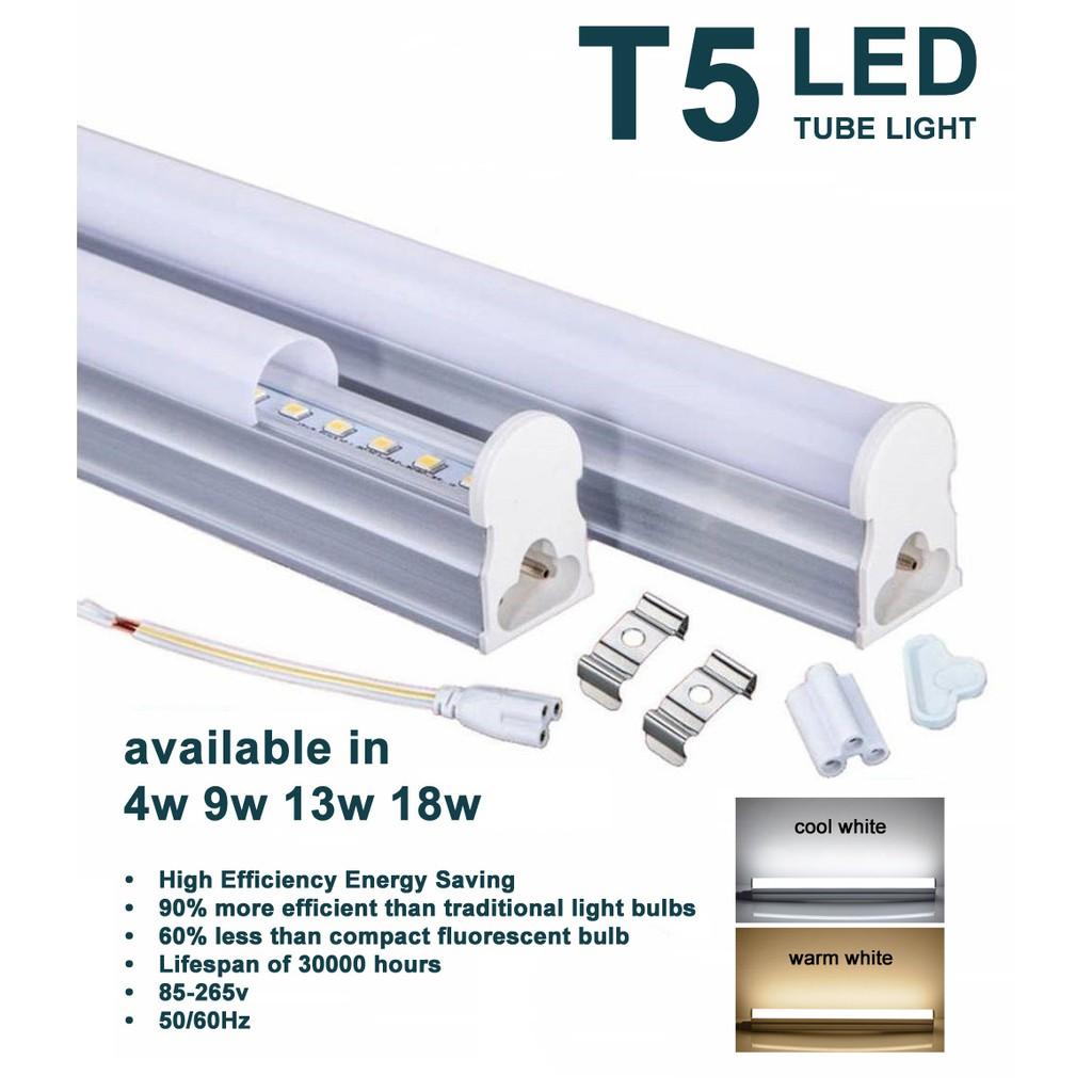 9 Watts T5 Led Tube Light 0 60 Meters 2ft