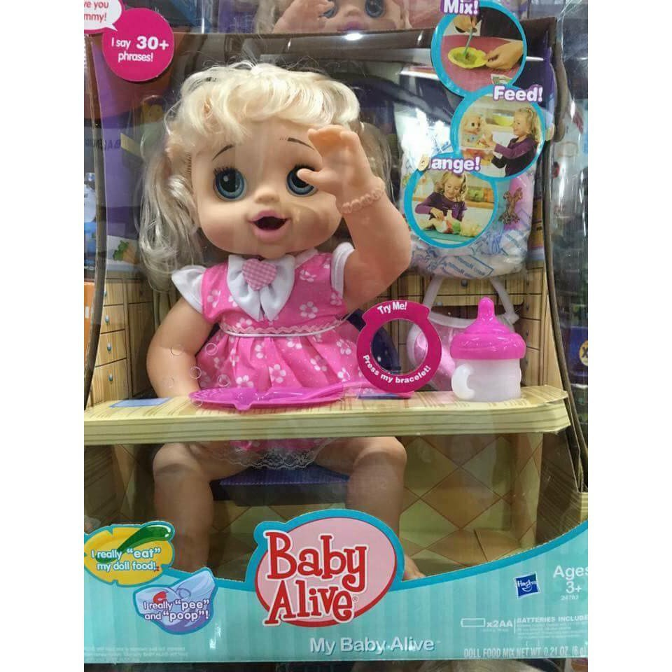 My Baby Alive Talking Doll Feed Poop And Change Diaper  1a6a5488cd