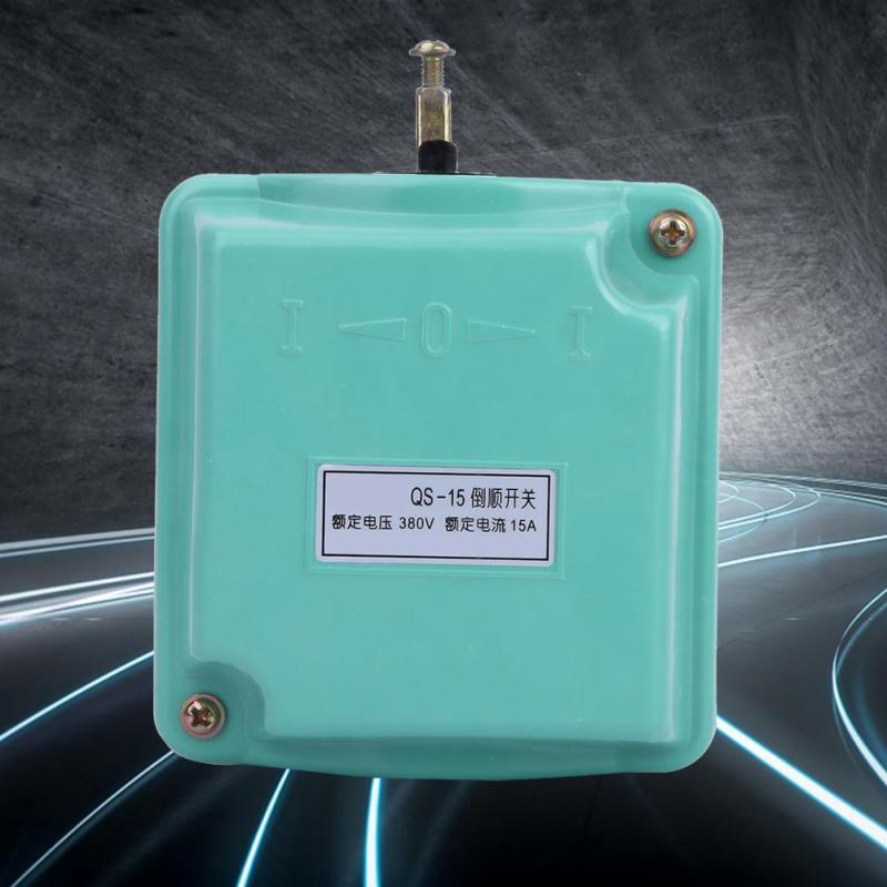 Drum Switch Forward//Off//Reverse Motor Control Rain-Proof Reversing QS-15A 380V