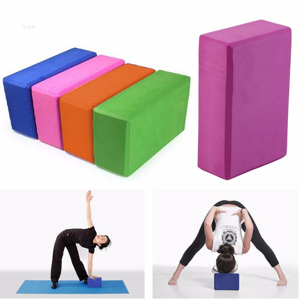 SALE 1pc Yoga Block EVA Foam Fitness Brick Pilates Tool Gym Workout Stretching