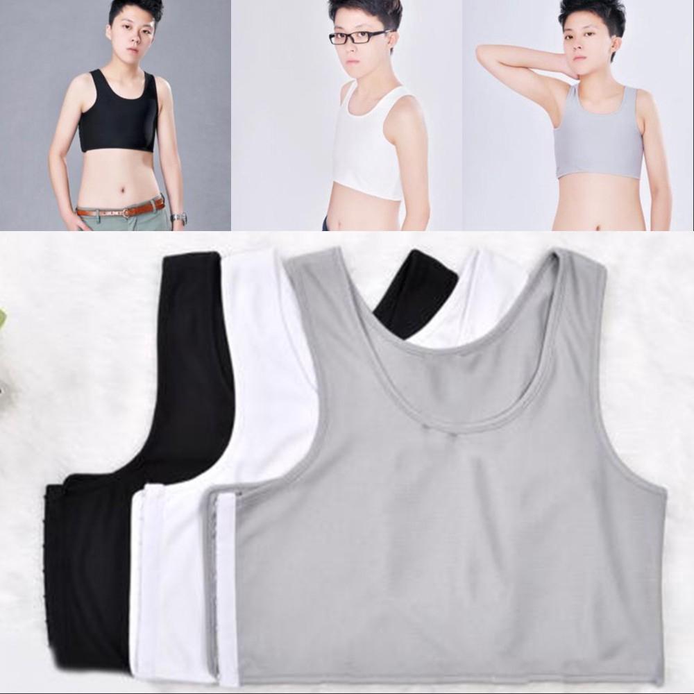 Lesbian Short Vest Flat Chest Binder Vest Tank Tops Compression Tomboy