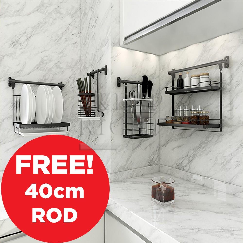 Plastic Organizer Bathroom Basket Shelf Wall Mount Hanging Holder Storage Box W