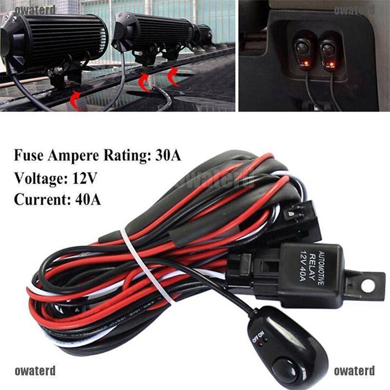Yen2  12v 40a Remote Control Wiring Harness Strobe Switch