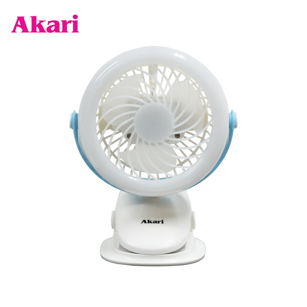 Akari Rechargeable 360 Led Clip Fan Ajf 5509b Shopee Philippines