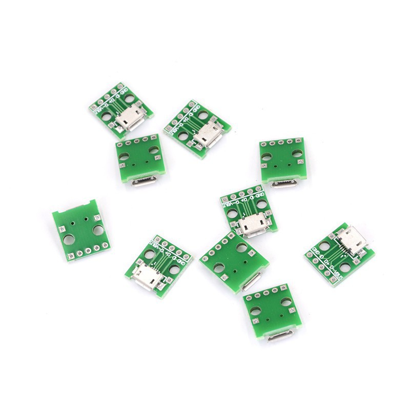 5pcs Female MICRO USB to DIP 5-Pin Pinboard 2.54mm micro USB Connector