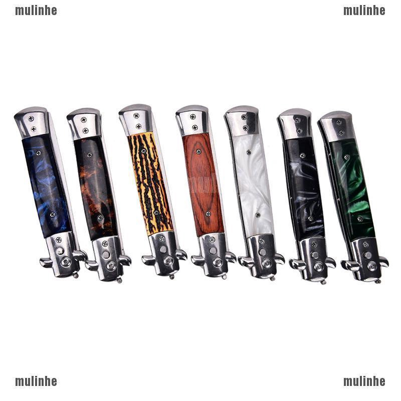 MUL❤ Stainless Switchblade Fold Spring Pocket Hair Comb Fol