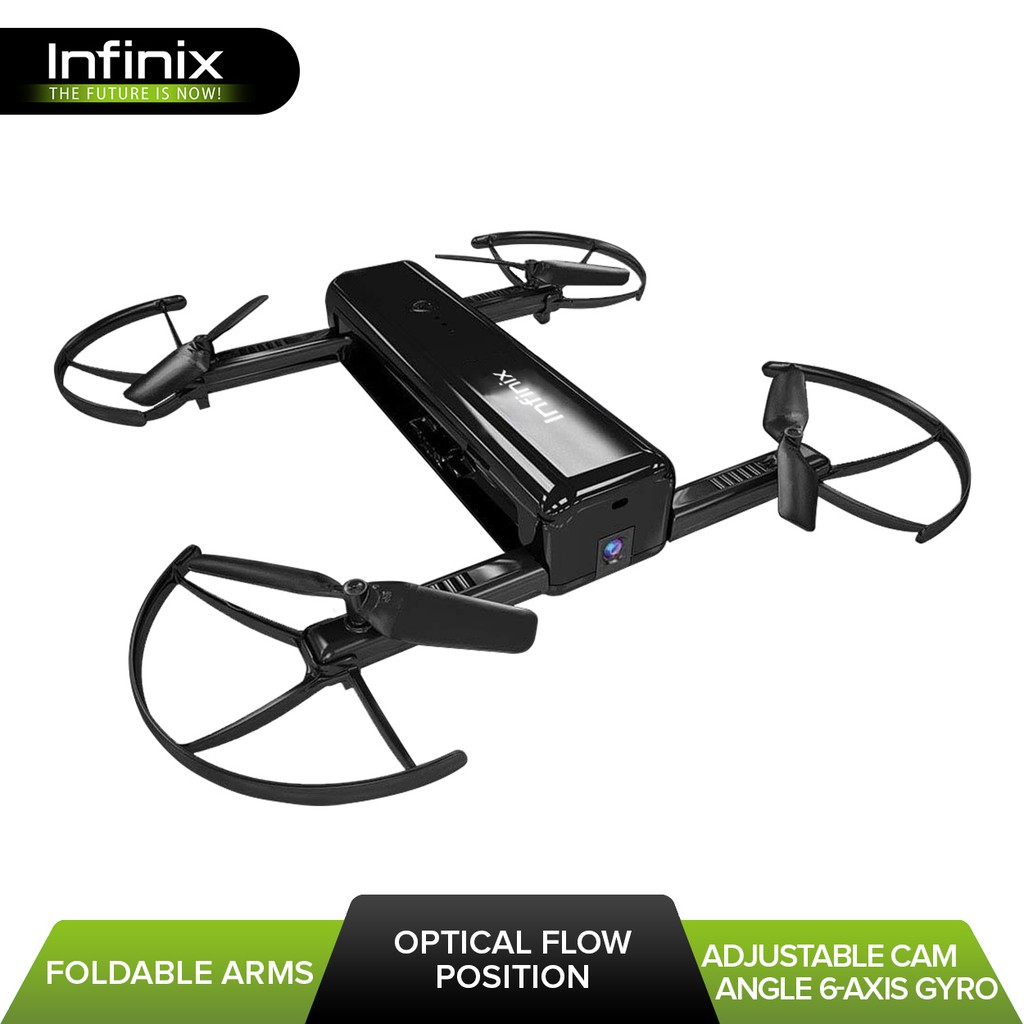 Infinix XF01 5MP Adjustable Camera Flying Drone (Black)
