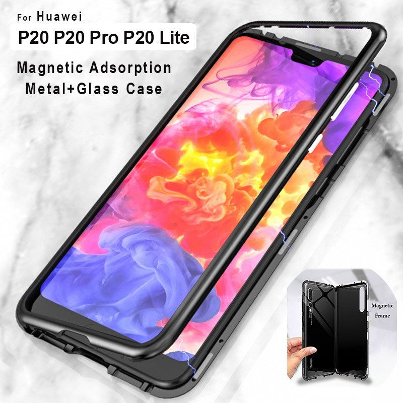 best loved a5441 981d1 Huawei P20 Pro P20 Magnetic Adsorption Metal Case