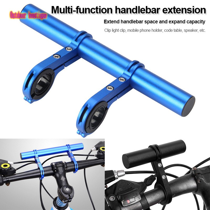 MTB Bike Bicycle Handlebar Extension Mount Phone Lights Holder Brackets Extender