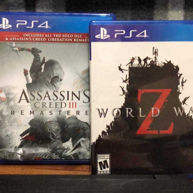 PS4 GAMES- WORLD WAR Z AND ASSASIN'S CREED