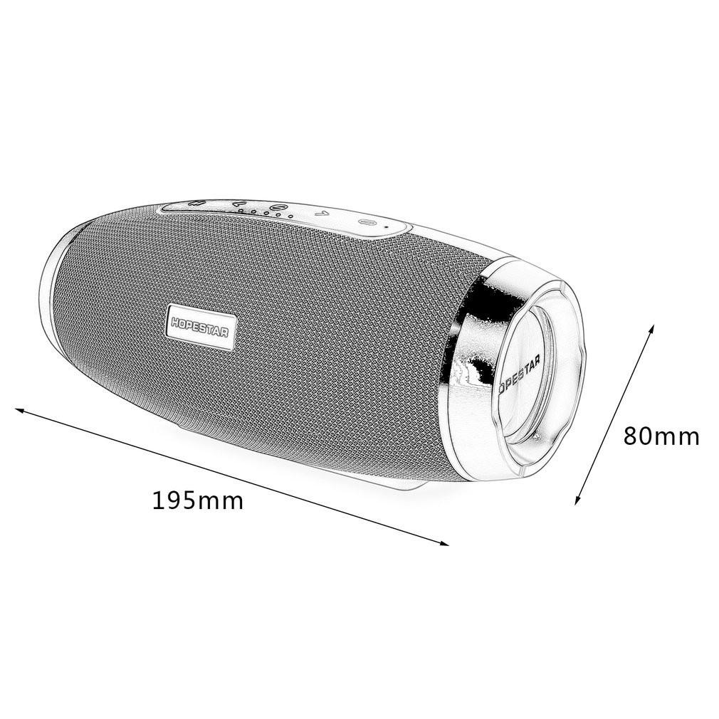 HOPESTAR H27 Portable Olive Shape Bluetooth Speaker FM Transmitter Power Bank DF