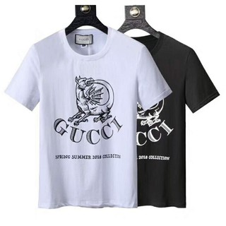 ad55b735889 GUCCI casual plus size T-shirt loose letter cotton tops