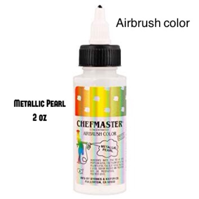 Food Color Chefmaster Airbrush color Gold Pearl Silver